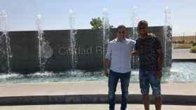 Ayoub en la Ciudad Real Madrid. Foto: Twitter (@MediaBaseSports)