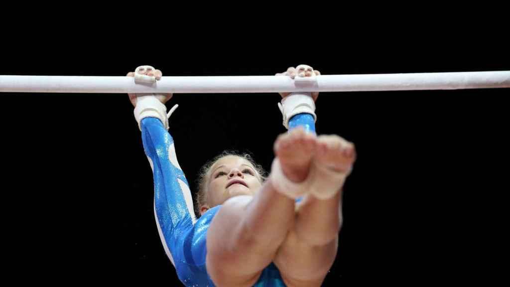La finlandesa Ennie Kettunen durante una prueba. Foto: REUTERS