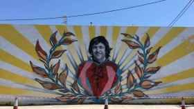 Mural para Ángel Nieto. Necko.