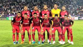 Once del Sevilla en el partido de vuelta contra  el Újpest.