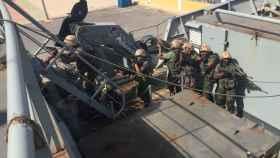 Ejercicio realizado en Cartagena en el adiestramiento de militares libios.