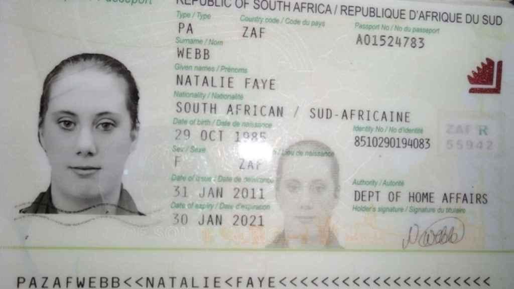 Pasaporte falso de Samantha Lewthwaite