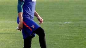 Adán, durante un entrenamiento del Atlético de Madrid.