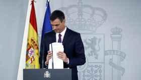 Comparecencia presidente del Gobierno Pedro Sánchez, en una imagen de archivo.