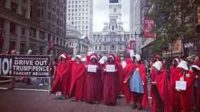 Varias mujeres en protesta en Estados Unidos.