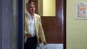 Agustín Martínez, abogado de Boza, el pasado jueves en el Juzgado de guardia de Sevilla