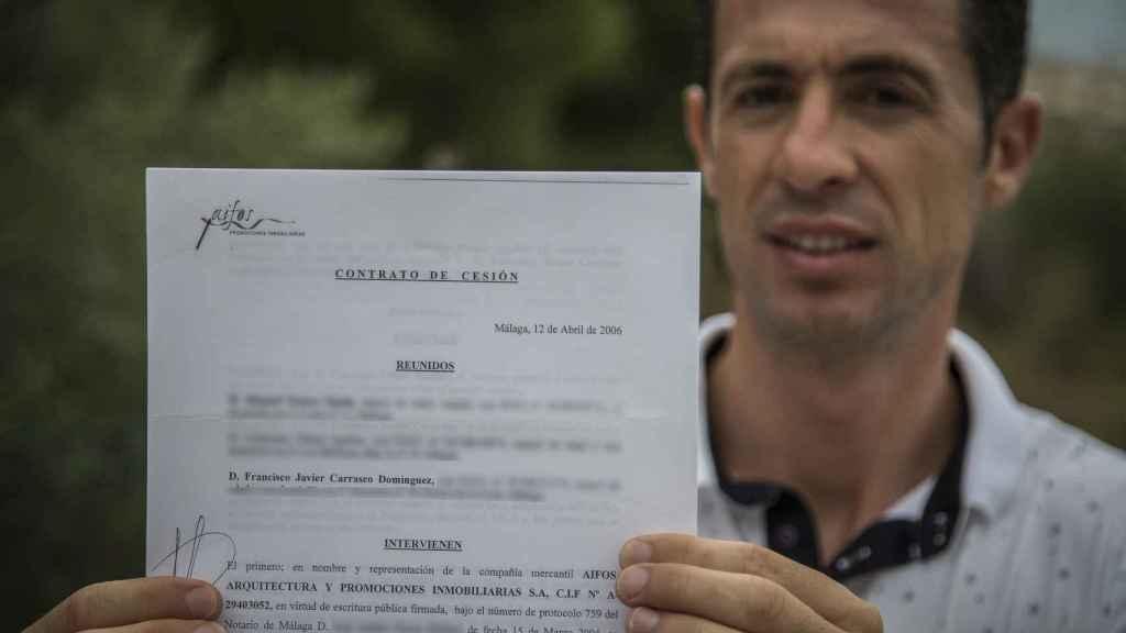 Francisco Javier Carrasco, bombero de profesión, llegó a entregar a Aifos 80.000 euros como entrada. Nunca recibió la casa. Ahora su banco ha sido obligado a devolverle el dinero.