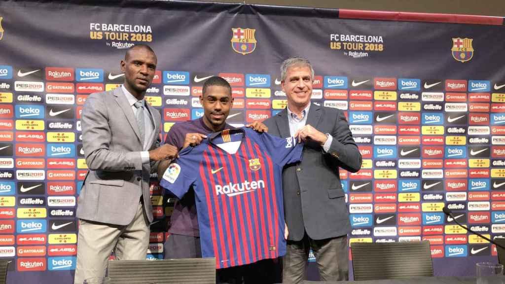 Malcom, presentado con el Barça