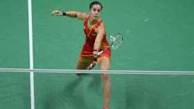 Carolina Marín, durante un partido. Foto: EFE