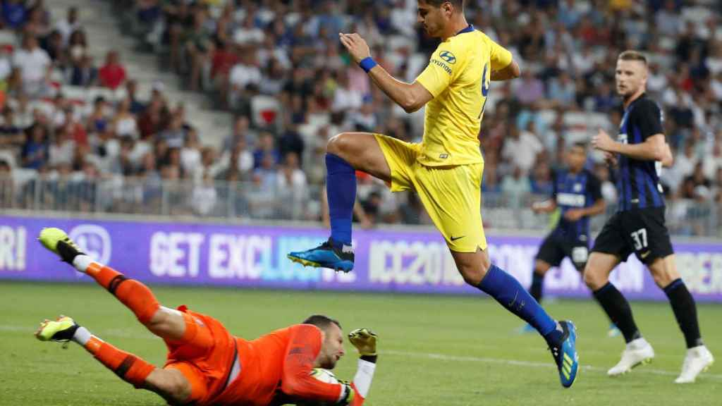 Morata, en uno de los partidos de pretemporada con el Chelsea. Foto: REUTERS