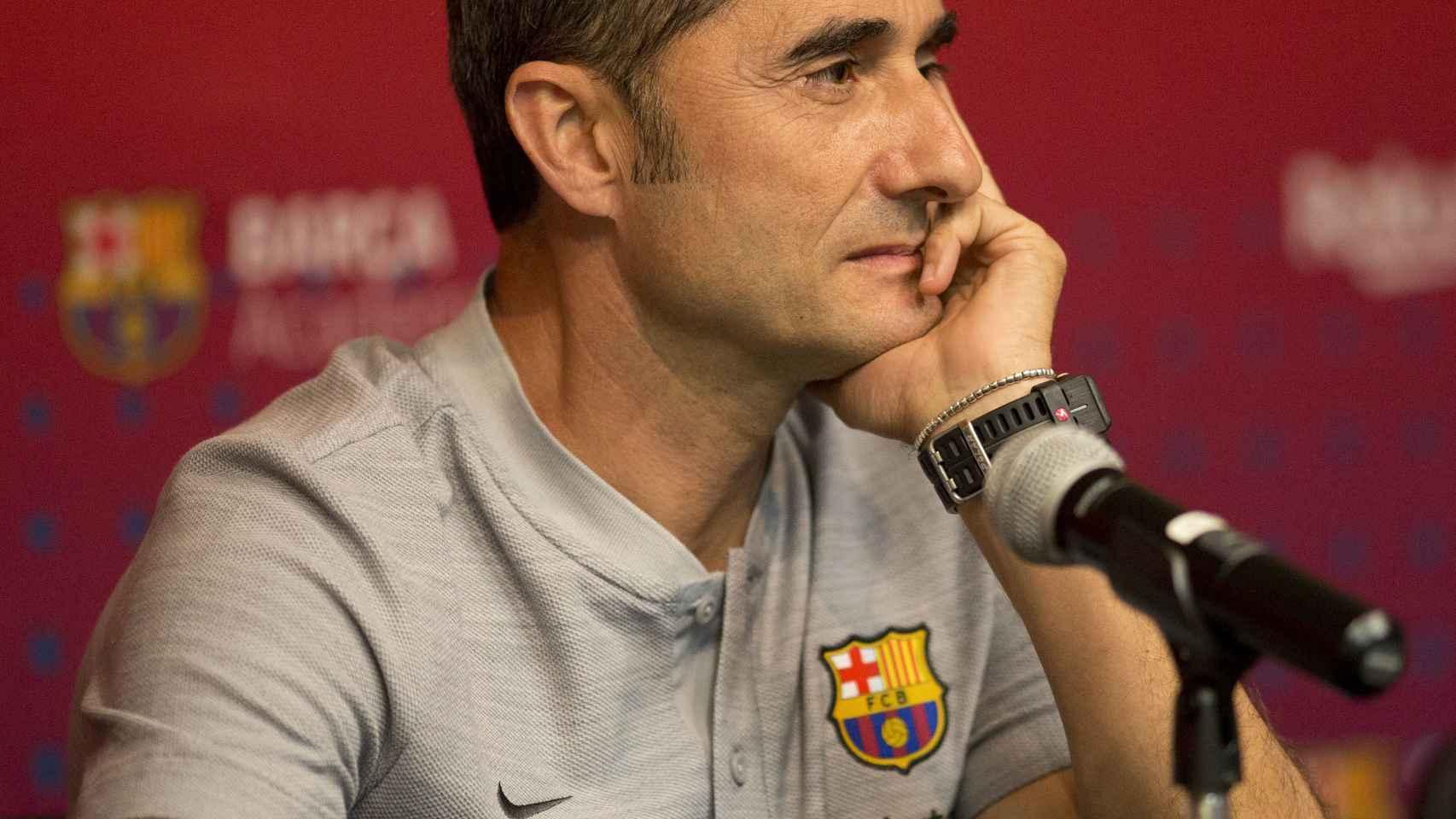 Valverde, durante una rueda de prensa. Foto: EFE