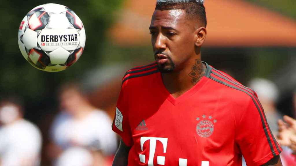 Boateng durante un entrenamiento con el Bayern Múnich