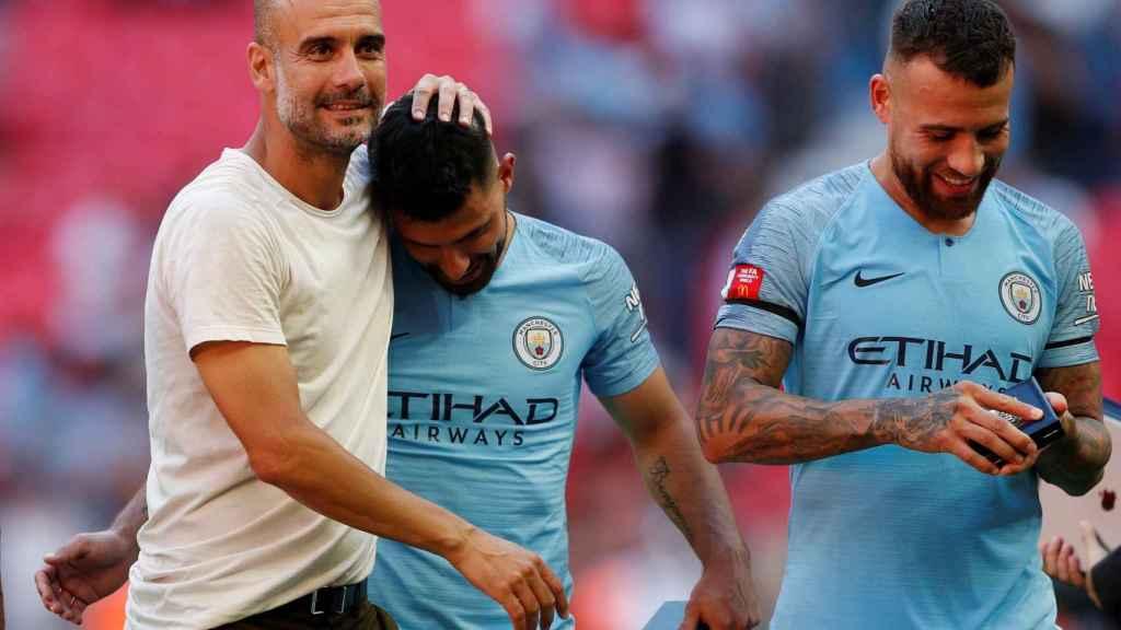 Guardiola celebra un triunfo con el Manchester City