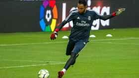Keylor Navas, durante un partido de pretemporada con el Real Madrid.