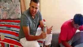 Mohamed Hichamy, preparando artefactos explosivos en Alcanar.