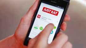 Aplicación Just Eat, imagen de archivo