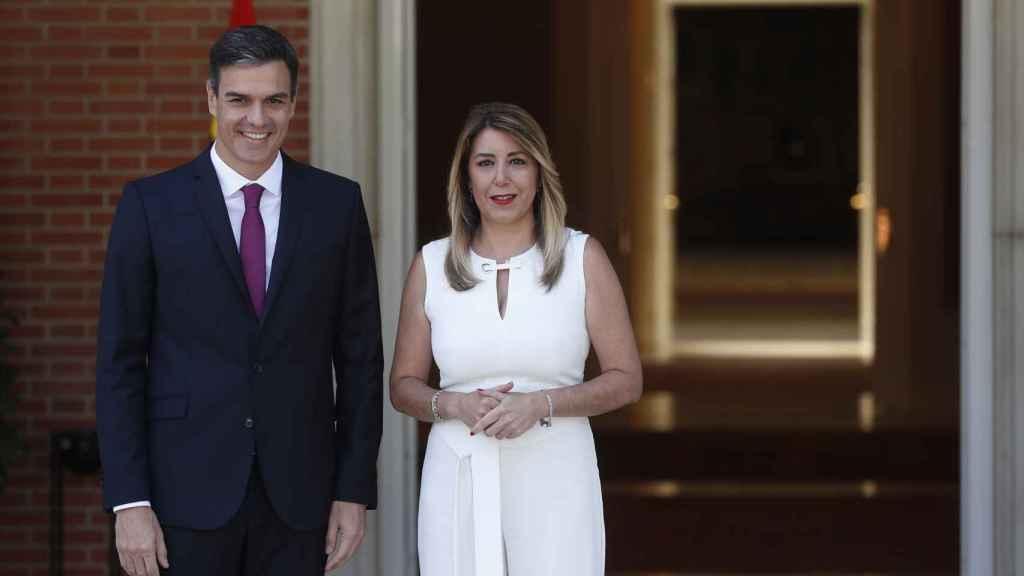 Susana Díaz y Pedro Sánchez en su última reunión antes de las vacaciones.