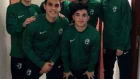 MIguel Ángel Romera (izquierda) con sus antiguos compañeros