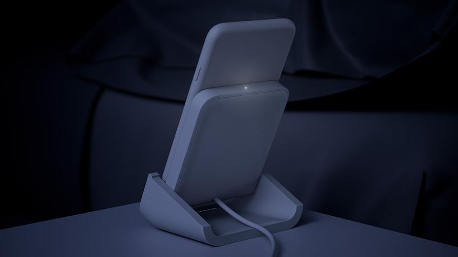 logitech powered-for-iphone carga inalambrica apple de noche