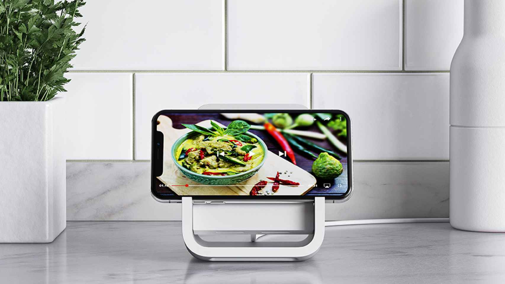 logitech powered-for-iphone youtube cocina