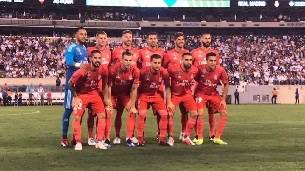 Once titular del Real Madrid frente a la Roma