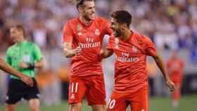 Gareth Bale y Marco Asensio, celebrando un gol