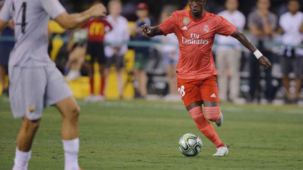 Vinicius se enfrenta a la Roma en un partido con el Madrid