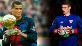Rivaldo y Kepa Arrizabalaga
