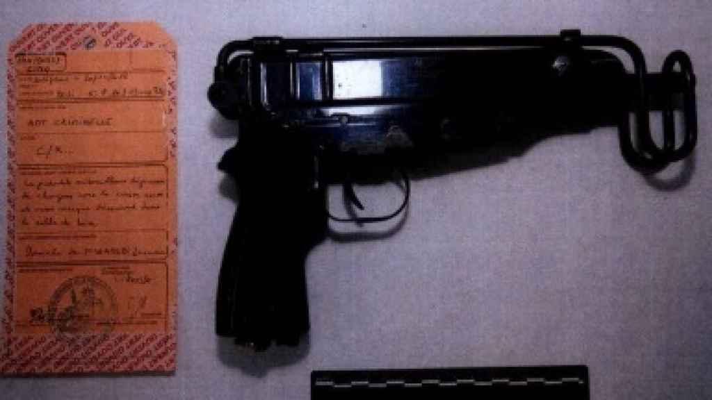 Ametralladora encontrada a los terroristas detenidos en Estrasburgo preparados para atentar.