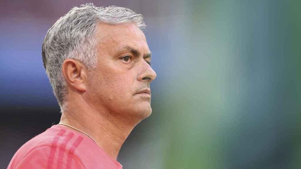 Mourinho, durante un partido de esta temporada.