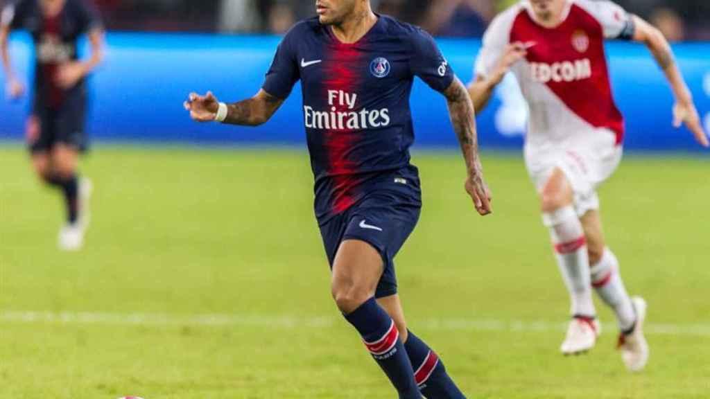Neymar, en la Supercopa de Francia con el PSG