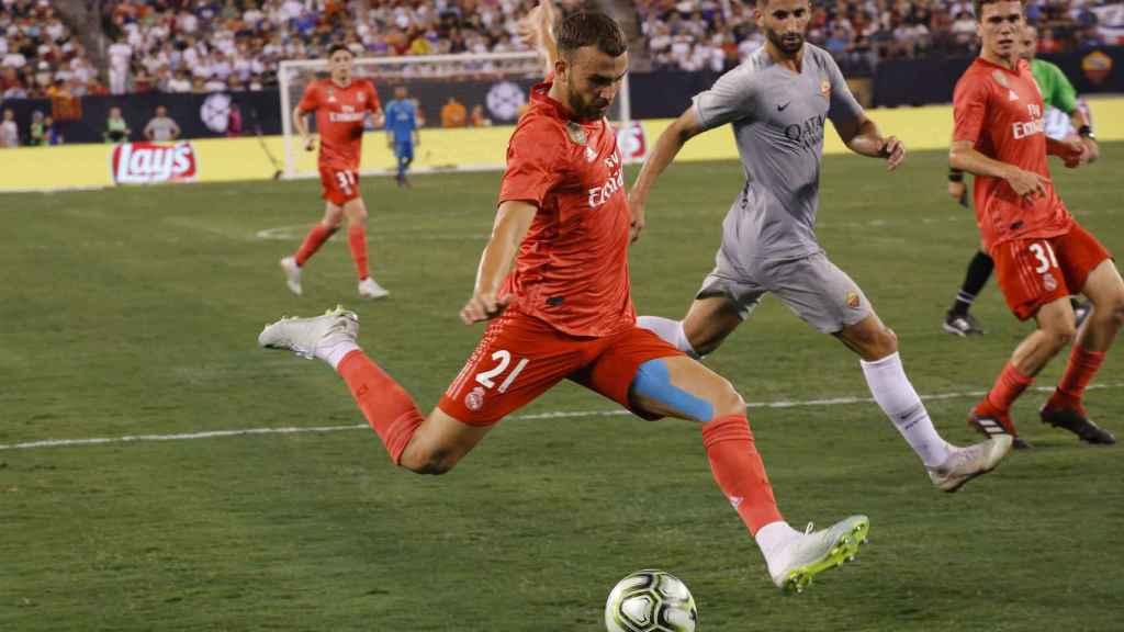 Borja Mayoral, durante un partido de pretemporada.