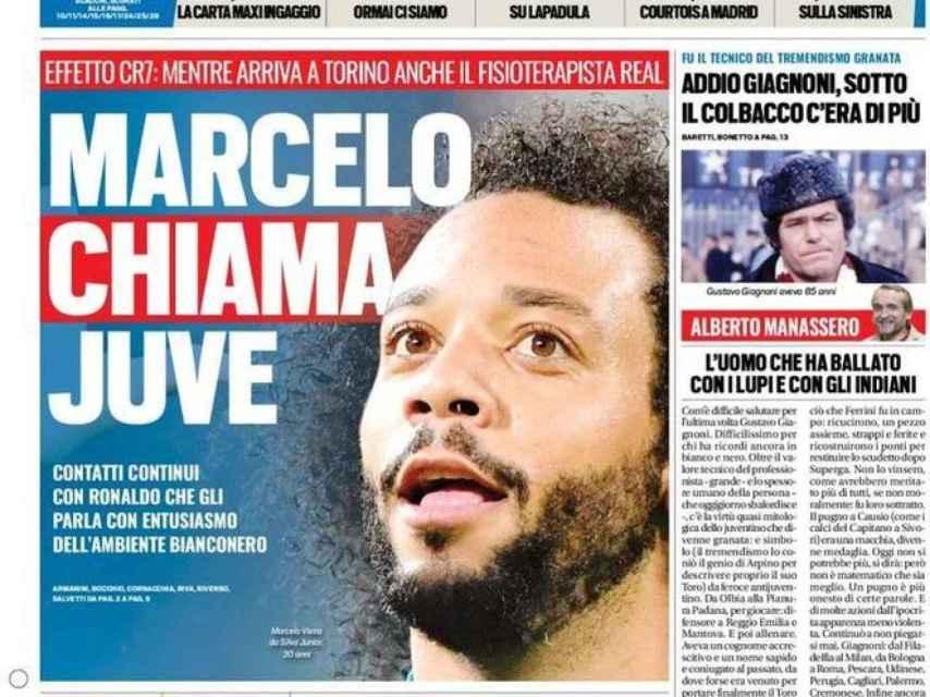 La portada del diario Tuttosport (09/08/2018)