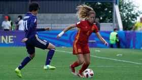 Partido entre España y Japón en el Mundial Sub20 femenino. Foto: Twitter (@SeFutbolFem)