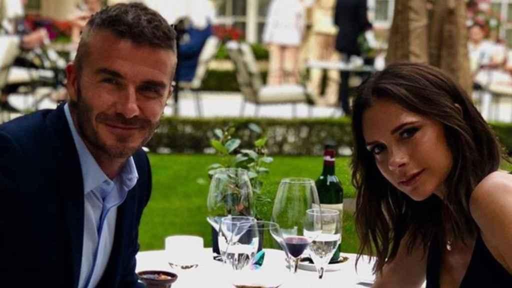 David y Victoria Beckham en una imagen de redes sociales