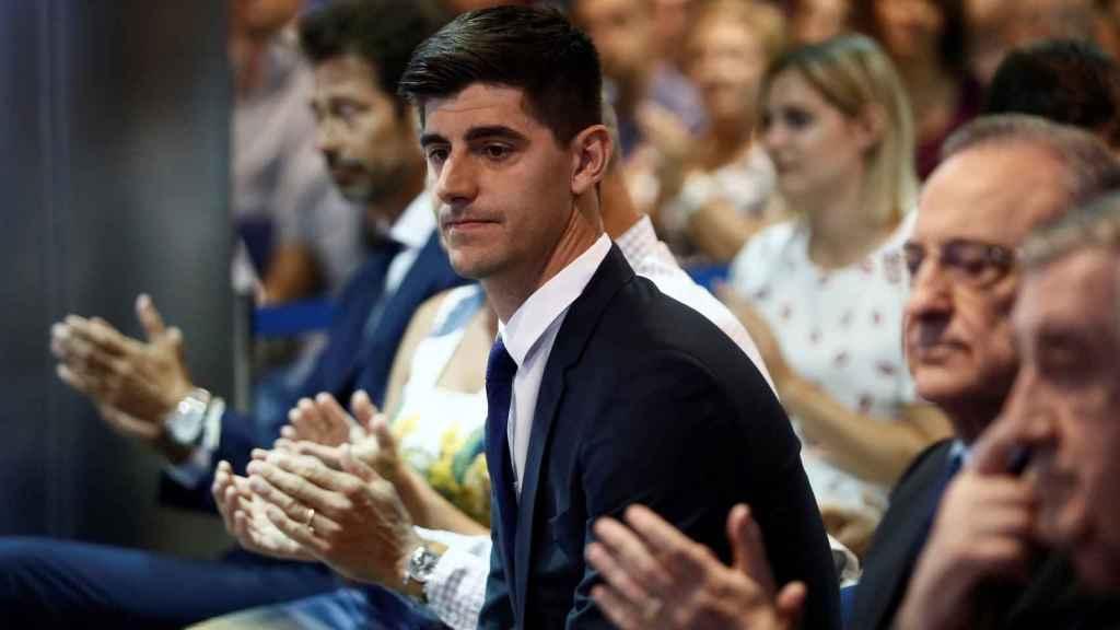 Thibaut Courtois, durante la presentación como jugador del Real Madrid