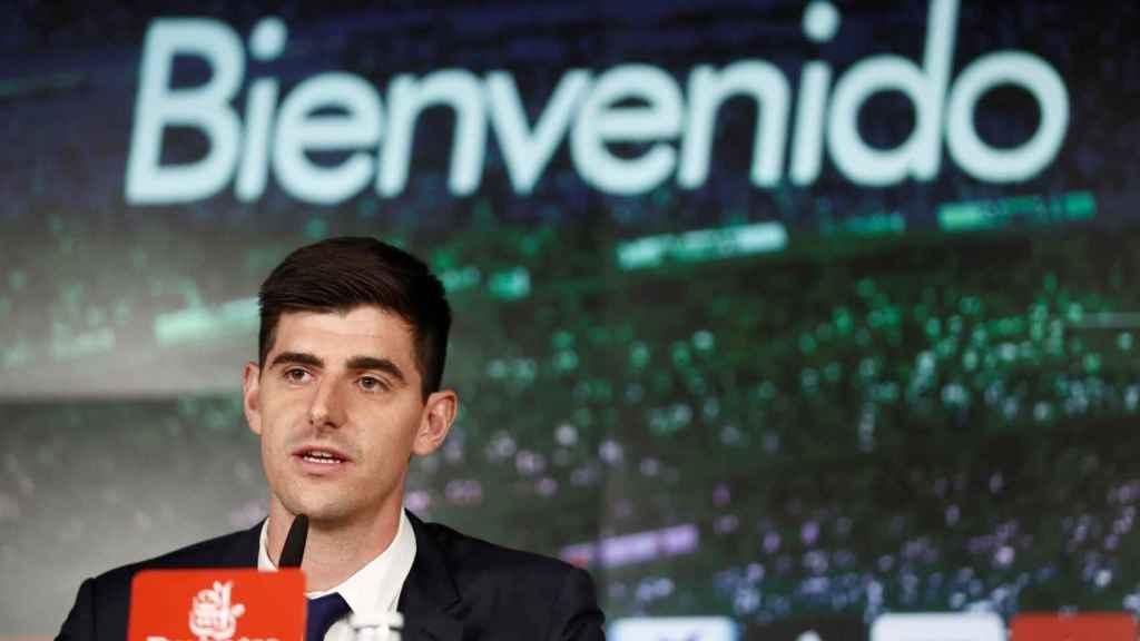 Rueda de prensa de Thibaut Courtois en el Santiago Bernabéu