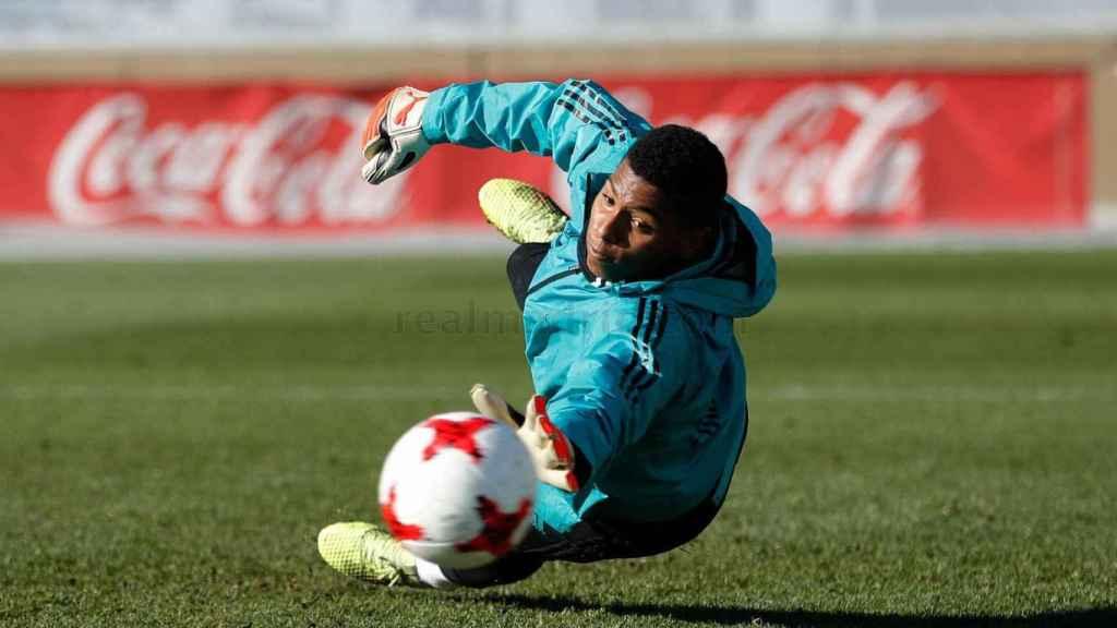 Moha Ramos,, durante un entrenamiento.