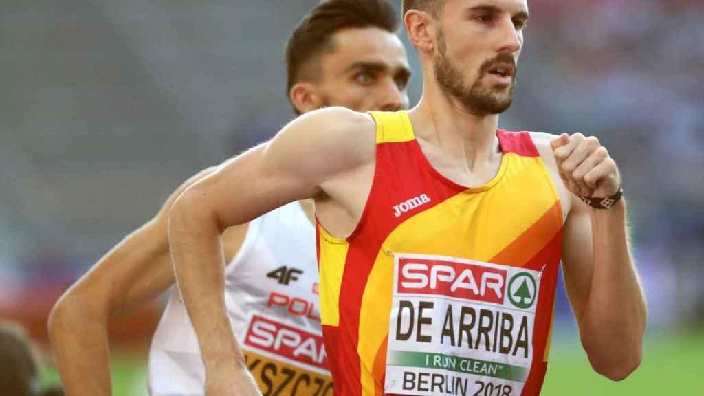Álvaro de Arriba, en las semifinales de los 800 metros masculinos del Campeonato Europeo