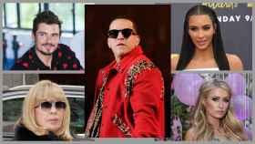 Daddy Yankee con otras 'celebrities'.