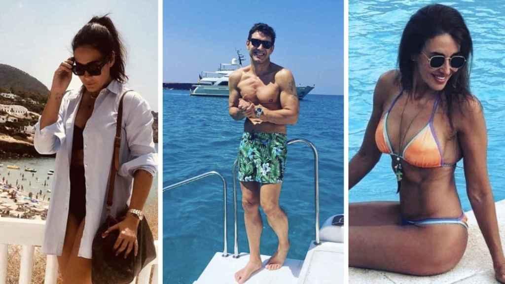 Vicky Martín Berrocal, Jesús Vázquez,  y Elsa Anka en fotos de sus redes sociales.