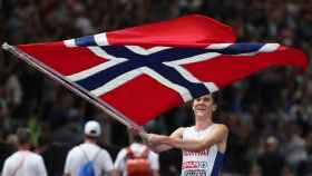 Ingebrigtsen, tras proclamarse campeón de Europa.