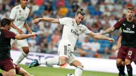 Bale marca el 2-1 ante el Milan.