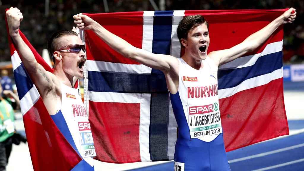 Henrik (i) y Jakob celebran el doblete para la familia Ingebrigtsen en 5.000m