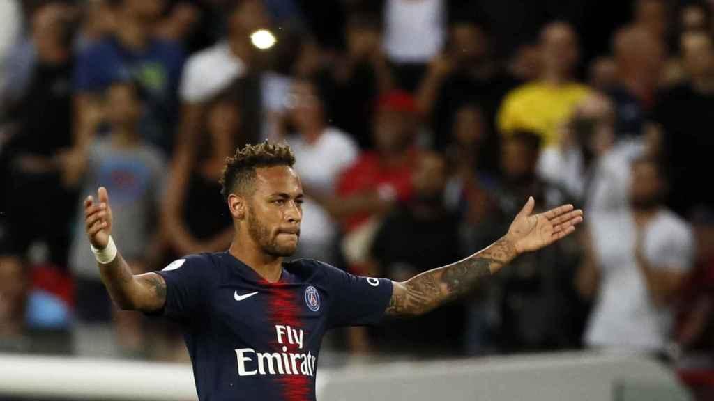 Neymar en un partido del PSG