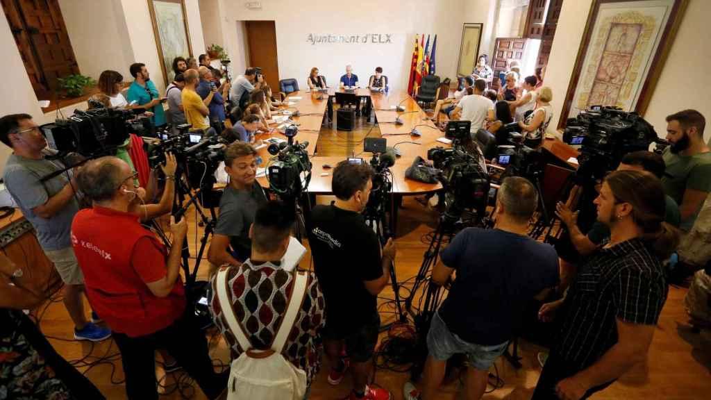 Rueda de prensa organizada por la familia de Patricia Aguilar