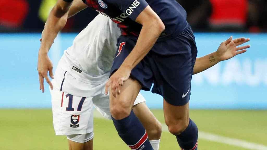 Rabiot durante un partido del PSG