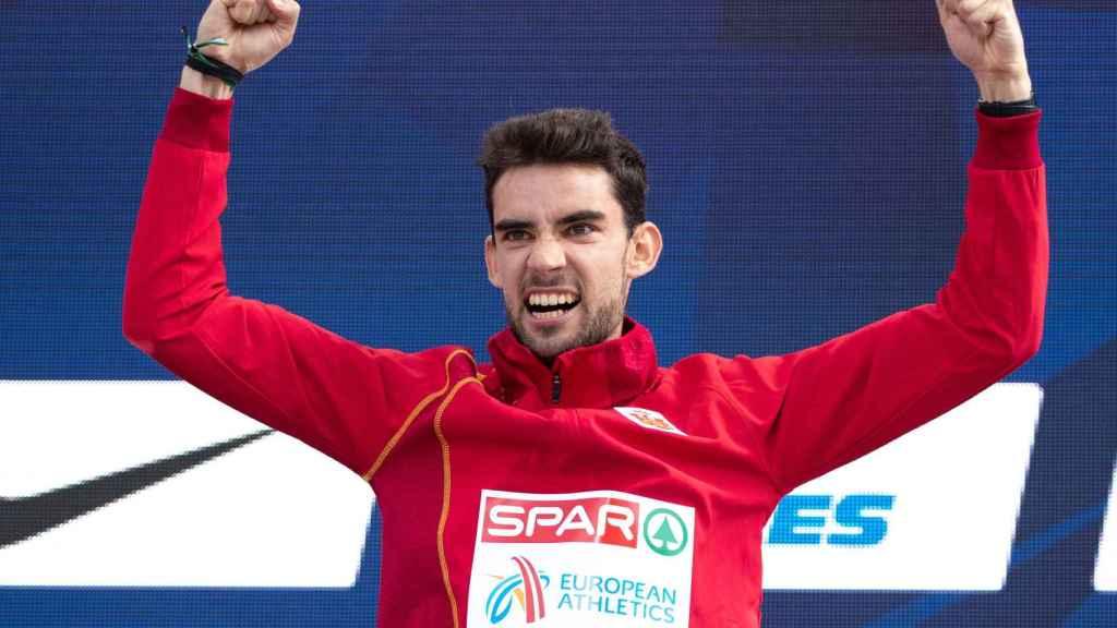 Álvaro Martín fue oro en 20 kilómetros marcha.