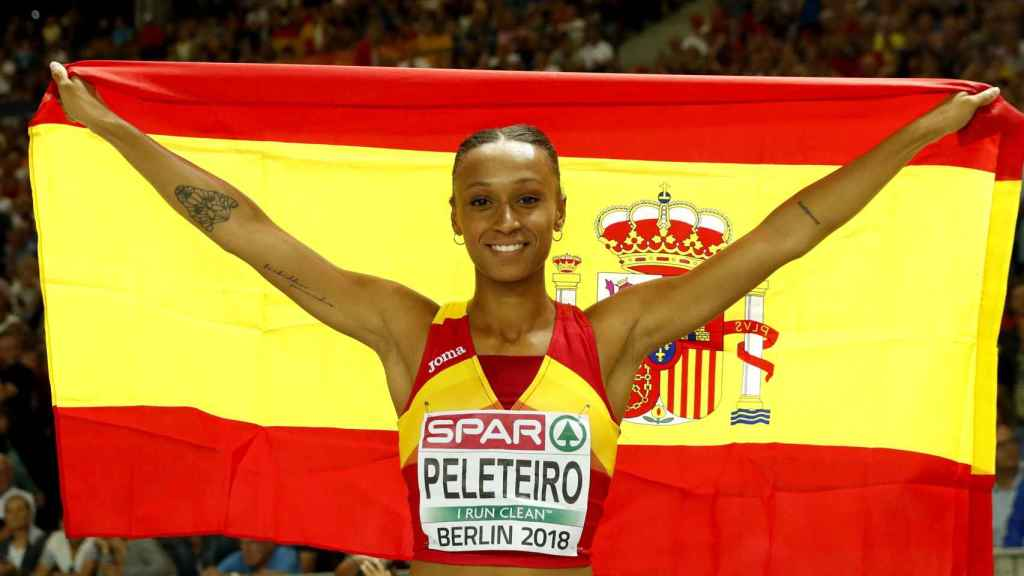 Ana Peleteiro ganó el bronce en la prueba de triple salto.