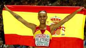Ana Peleteiro ganó el bronce europeo en la prueba de triple salto